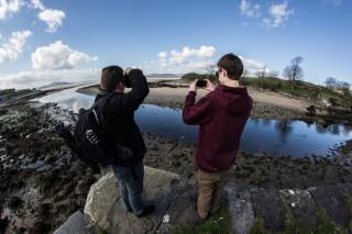 Rafael Loerwald und Lukas Scheffer bei den Dreharbeiten in Irland. Foto: Damian Hilus