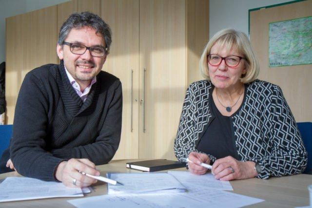 Ein gutes Team: Der neue Schulleiter Michael Roth und seine Stellvertreterin Sabine Wegener. Foto: SMMP/Ulrich Bock