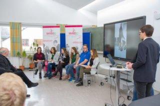 In einer Talkrunde diskutierten Ergo.- und Physiotherapeuten über die Bedeutung und Zukunft ihrer Bildungsgänge. Foto: SMMP/Ulrich Bock