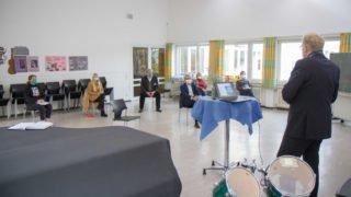 Die Begegnung fand in der Musikaula statt. Foto: SMMP/Ulrich Bock